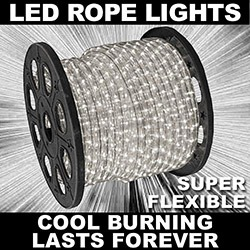 150 Foot LED Warm White Rope Lights 3 Foot Segments