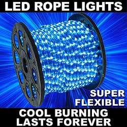 150 Foot LED Blue Rope Lights 3 Foot Segments