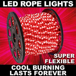 153 Foot LED Red Rope Lights 4.5 Foot Segments