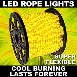 153 Foot LED Yellow Rope Lights 4.5 Foot Segments