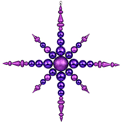 Jumbo 43 Inch Purple 3 Finish Snowflake Ornament