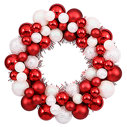12 Inch Candy Cane Christmas Ornament Wreath Unlit