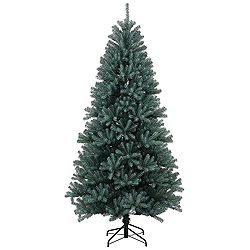 6.5 Foot Blue Crystal Pine Artificial Christmas Tree Unlit