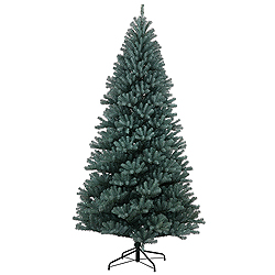 9 Foot Blue Crystal Pine Artificial Christmas Tree Unlit