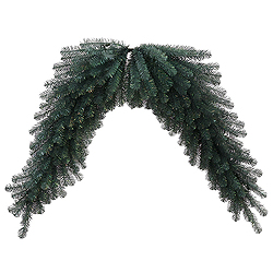 6 Foot Blue Crystal Pine Swag Garland