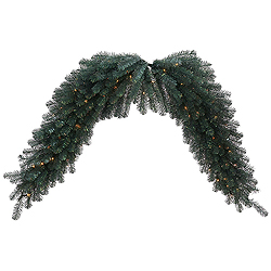 6 Foot Blue Crystal Swag Garland 100 DuraLit Clear Lights