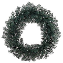 24 Inch Blue Crystal Pine Wreath