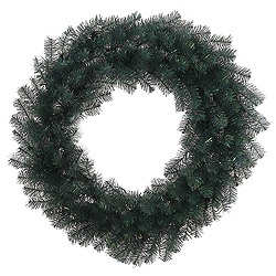 3 Foot Blue Crystal Pine Wreath