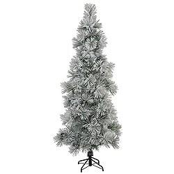 8 Foot Flocked Stone Pine Artificial Christmas Tree
