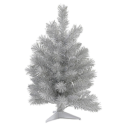 3 Foot Silver White Pine Artificial Christmas Tree Unlit