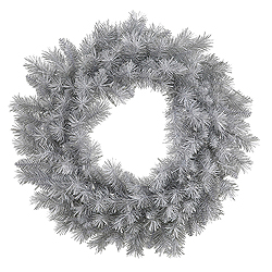 30 Inch Silver White Pine Wreath