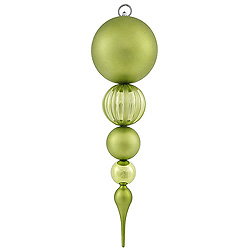 20.5 Inch Lime Matte Finish Finial Christmas Ornament Shatterproof UV
