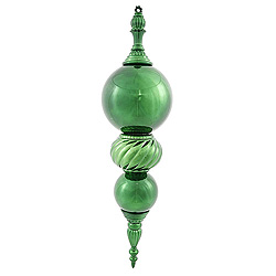30 Inch Emerald Shiny Christmas Finial Ornament Shatterproof UV