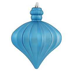5.5 Inch Turquoise Shiny And Matte Onion Ornament