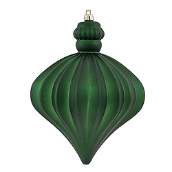 5.5 Inch Emerald Shiny And Matte Onion Ornament