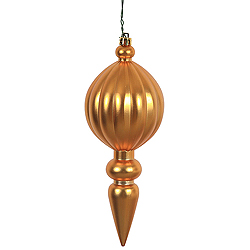 8 Inch Copper Matte Finial Christmas Ornament Shatterproof UV Set of 6