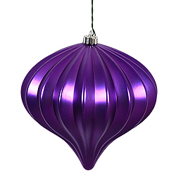 5.7 Inch Purple Matte Onion Ornament 3 per Set