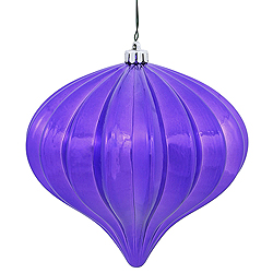5.7 Inch Purple Shiny Onion Ornament 3 per Set