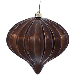 5.7 Inch Chocolate Shiny Onion Ornament 3 per Set