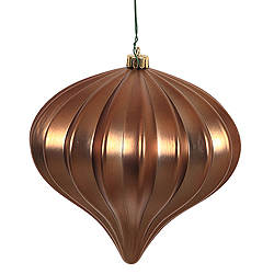 5.7 Inch Mocha Matte Onion Ornament 3 per Set