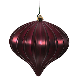 5.7 Inch Wine Matte Onion Ornament 3 per Set