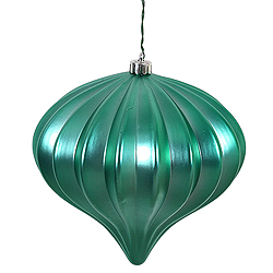 5.7 Inch Seafoam Matte Onion Ornament 3 per Set