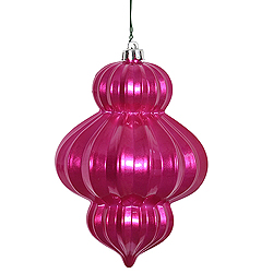 6 Inch Orchid Candy Lantern Ornament 3 per Set
