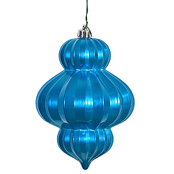 6 Inch Turquoise Candy Lantern Ornament 3 per Set