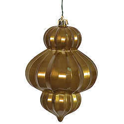 6 Inch Olive Candy Lantern Ornament 3 per Set
