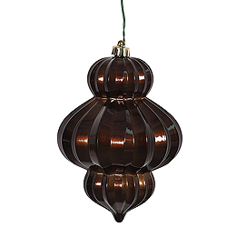 6 Inch Chocolate Candy Lantern Ornament 3 per Set