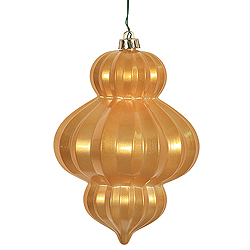 6 Inch Antique Gold Candy Lantern Ornament 3 per Set