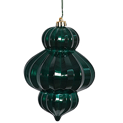 6 Inch Teal Candy Lantern Ornament 3 per Set