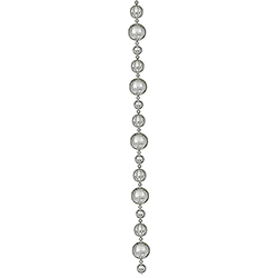 9 Foot Silver Ball Garland Assorted Finishes