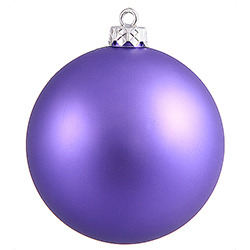 60MM Purple Matte Ornament Box of 6