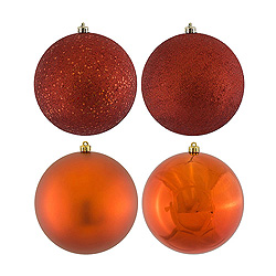 2.4 Inch Copper Round Ornament Assorted Finishes 2 per Set4