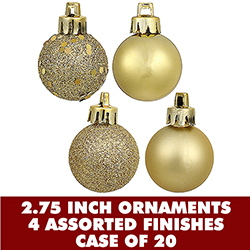 70MM Assorted Gold Plastic Ornament