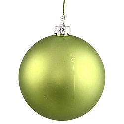 2.75 Inch Lime Matte Round Ornament Box of 12