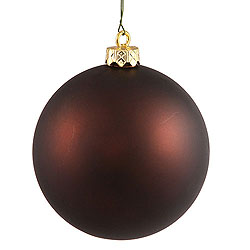 2.75 Inch Chocolate Matte Round Ornament 12 per Set