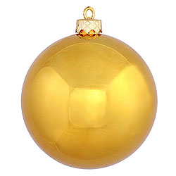 2.75 Inch Antique Gold Shiny Round Ornament 12 per Set