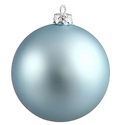 2.75 Inch Baby Blue Matte Round Ornament 12 per Set