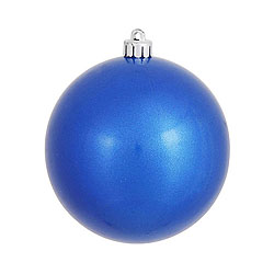 3 Inch Blue Candy Round Ornament 12 per Set
