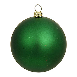 3 Inch Green Matte Round Ornament 12 per Set