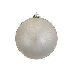 3 Inch Silver Candy Round Ornament 12 per Set