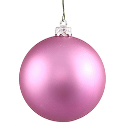 3 Inch Orchid Pink Matte Finish Round Christmas Ball Ornament Shatterproof UV 4 per Set