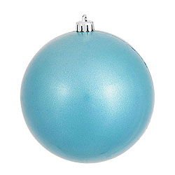 3 Inch Turquoise Candy Round Ornament 12 per Set