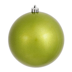 3 Inch Lime Candy Round Ornament 12 per Set