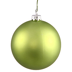 3 Inch Lime Matte Round Ornament 12 per Set