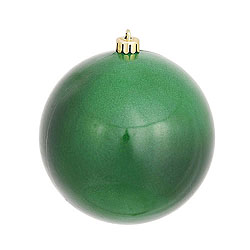 3 Inch Emerald Candy Round Ornament 12 per Set