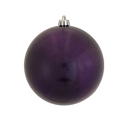 3 Inch Plum Candy Round Ornament 12 per Set