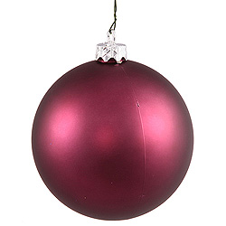 3 Inch Plum Matte Round Ornament 12 per Set